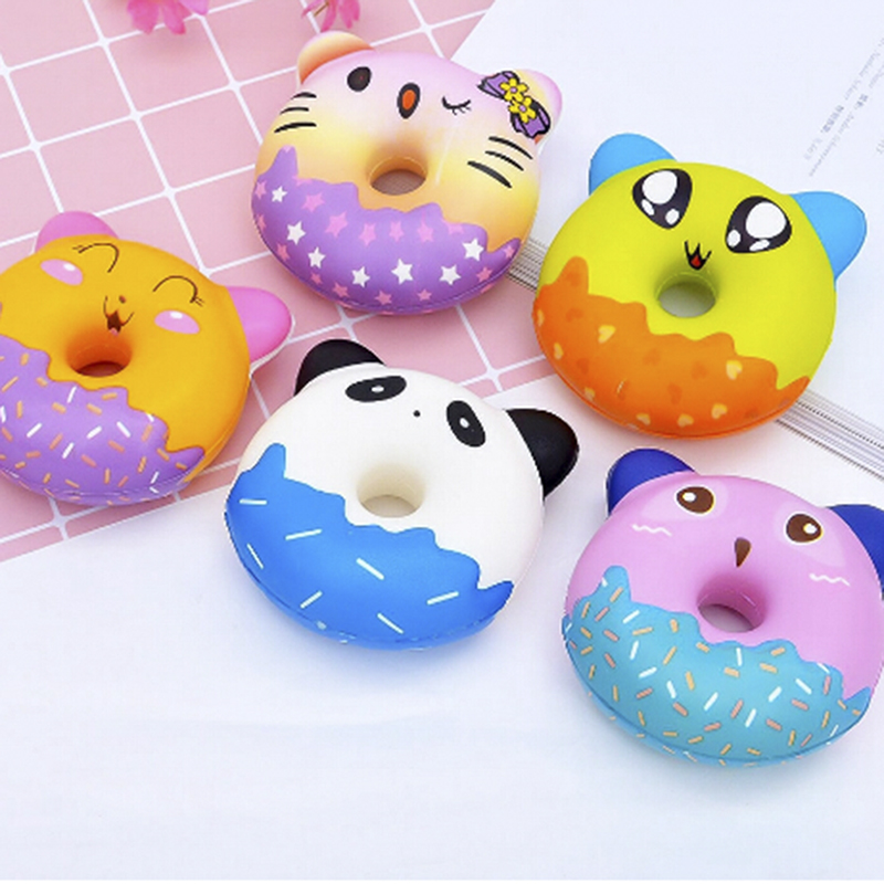 Kawaii Donut Jumbo Squishy Slow Rising Pink Unicorn Doughnut Squeeze Fun Toy For Children Antistress Squeeze Toy For Kids