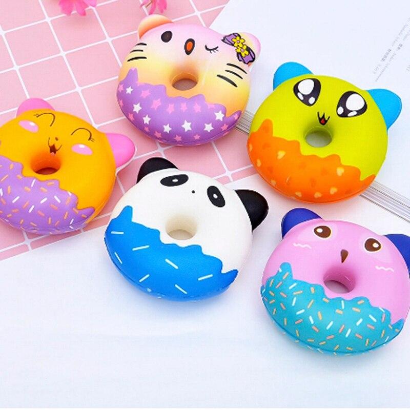 Kawaii Donut Jumbo Squishy Slow Rising Pink Unicorn Doughnut Squeeze Fun Toy For Children Antistress Squeeze Toy For Kids