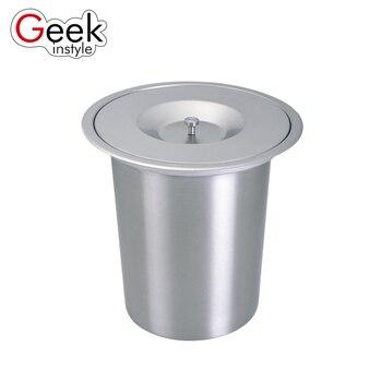 Geekinstyle 8L Higt Qualität Eingebaute Mülleimer Küche Abfall bin  Edelstahl Mülleimer Mit Deckel Müll Bins