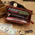 2015 new High Quality  Genuine  Leather Men Clutches handbags two color fashion large capacity day clutch wallets freeshipping