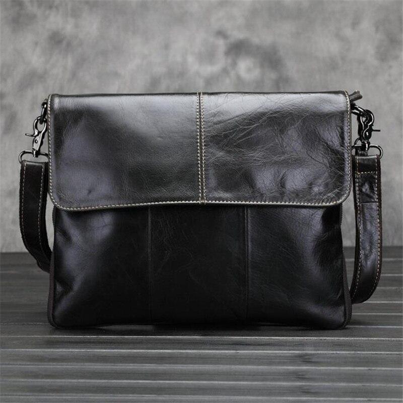 Genuine Leather Bag Men Travel Bag Leather Clutch Crossbody Bags Shoulder 2017 NEW MenS Briefcase Messenger Vintage Handbags