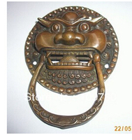 14 free ship Large Chinese BRASS Foo Dog Foo Lion Door Knocker 3.8'' wedding Brass Fine Arts Crafts decoration