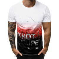 05e6fc3aca861 2019 летняя новая повседневная мужская футболка 3D мужские майки с принтом  футболки модный уличный с короткими