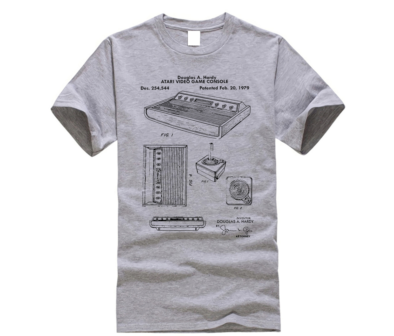 2019 New Cool Tee   Shirt   Atari Original Video Game Console Patent   T  -  Shirt   Tee Fashion Cotton   T  -  shirt