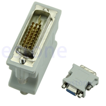 Hot Selling 15 Pin VGA Female to DVI-D Male Adapter Converter LCD Dls HOmeful - discount item  19% OFF Electrical Equipment & Supplies