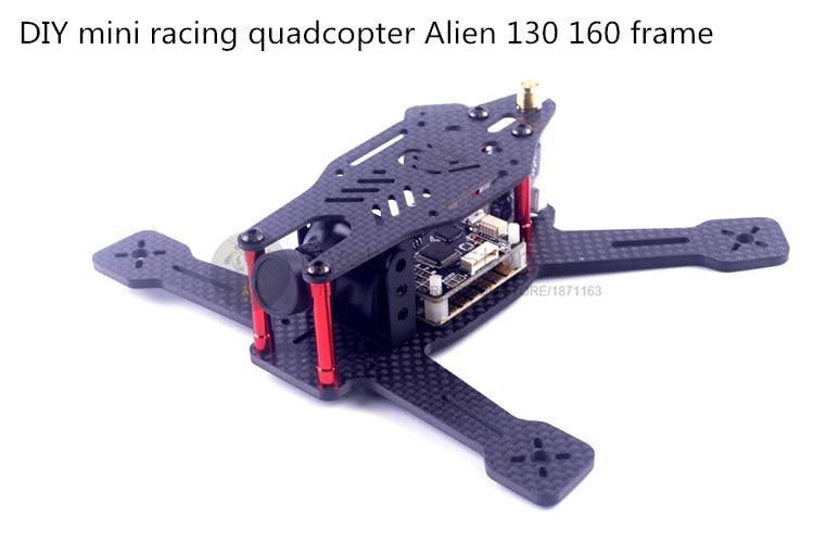 DIY FPV mini racing drone Alien 130 160 quadcopter pure carbon fiber frame unassembled diy mini drone fpv cross racing quadcopter pure carbon fiber owl250 frame alien qav250 quad