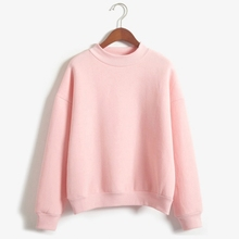 2018 Autumn Fleece Hoodies Women Candy Color Long Sleeve Casual Thicken Sweatshirts Women Harajuku Outwear Drop Shipping