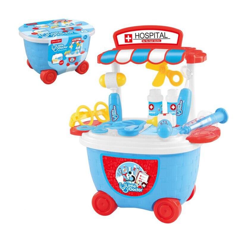 Intellective Bambini Giochi Di Imitazione Di Simulazione Da Cucina Cooking Tavola Spogliatoio Carrello Medico Per Bambini Giocattolo Di Plastica