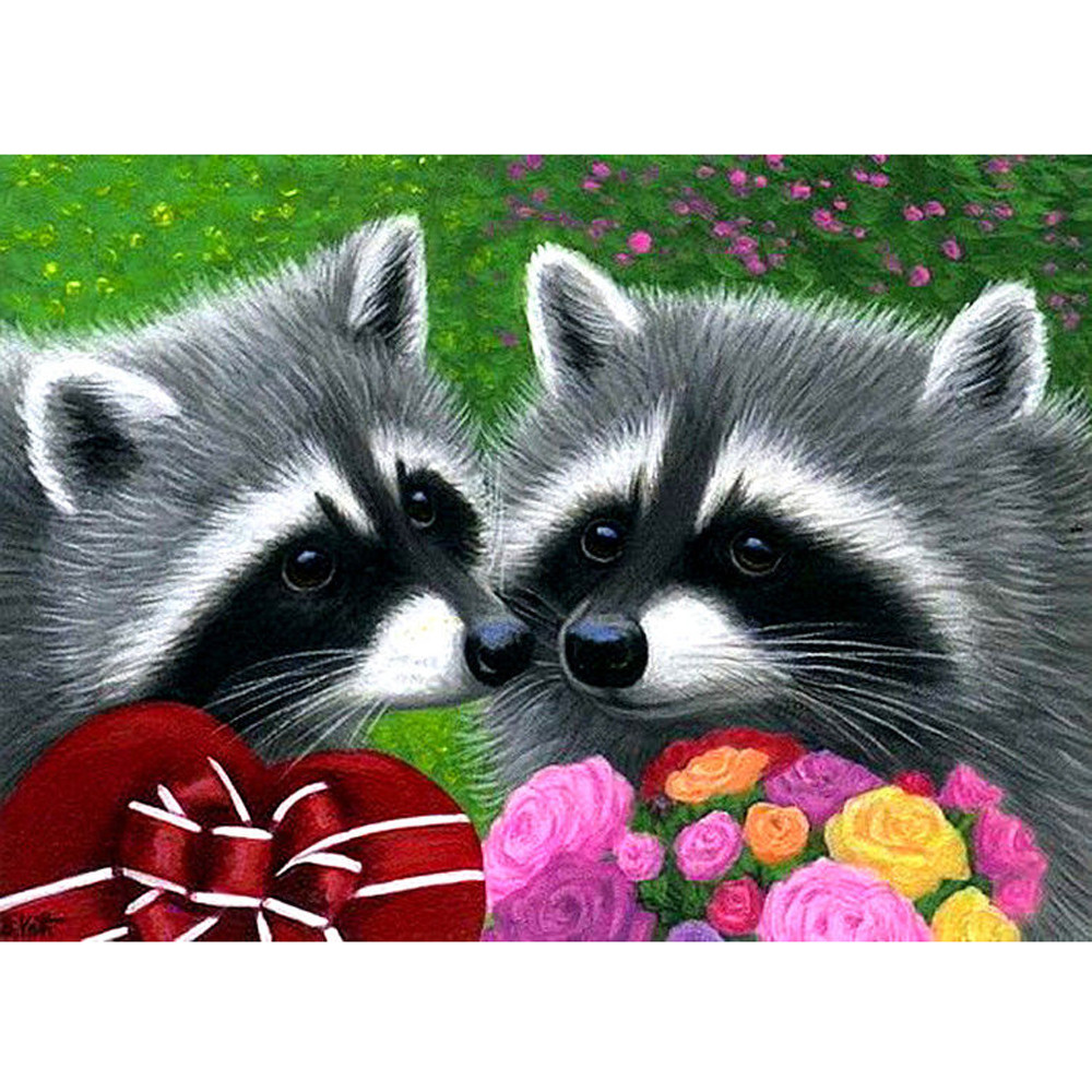 2017 hot sale on DIY 5D Diamond Animal Painting Embroidery Cross Crafts Stitch Home Decor fast free shipping