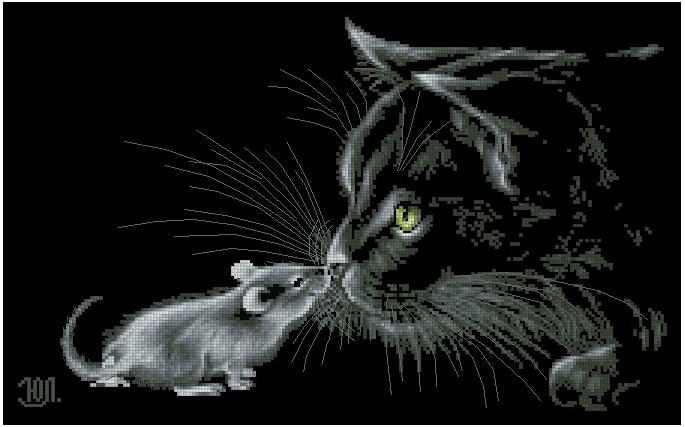Black And White Cat Cross Stitch Patterns
