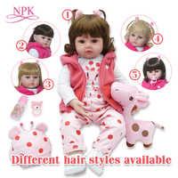 NPK Giocattoli Per Le Ragazze 48 CENTIMETRI Reborn Baby Doll Con La Bambola Bouse E Bambole Capelli bebe reborn corpo de silicone inteiro realista