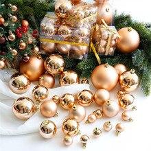24 шт., рождественские украшения в виде шаров для рождественской елки, украшения для украшения, 3 см, цветные пластиковые шары, вечерние украшения, подарок