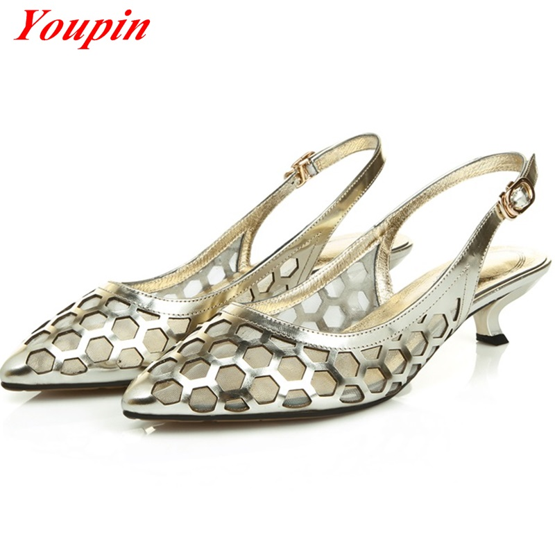 Sexy sandals Mesh Special metal laser materials Party 2016 Hot New Products Comfort leisure Sandals female