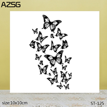 AZSG Beautiful Butterfly Clear Stamps/Seals For DIY Scrapbooking/Card Making/Album Decorative Silicone Stamp Crafts