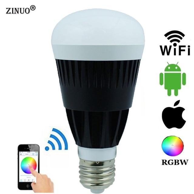 ZINUO Home Wireless Wifi E27 10W RGBW RGBWW LED Bulbs Smartphone App ...