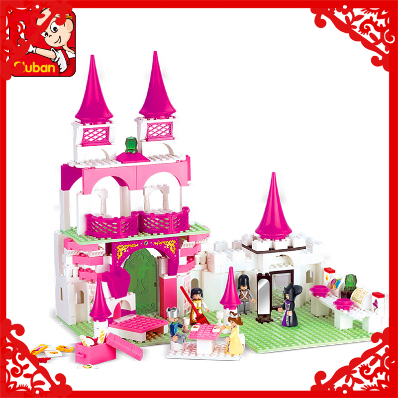 SLUBAN 0151 Block Compatible Legoe Dream Series Princess Castle Model 508Pcs Educational  Building Toys Gift For Children ваза pavone высота 20 см