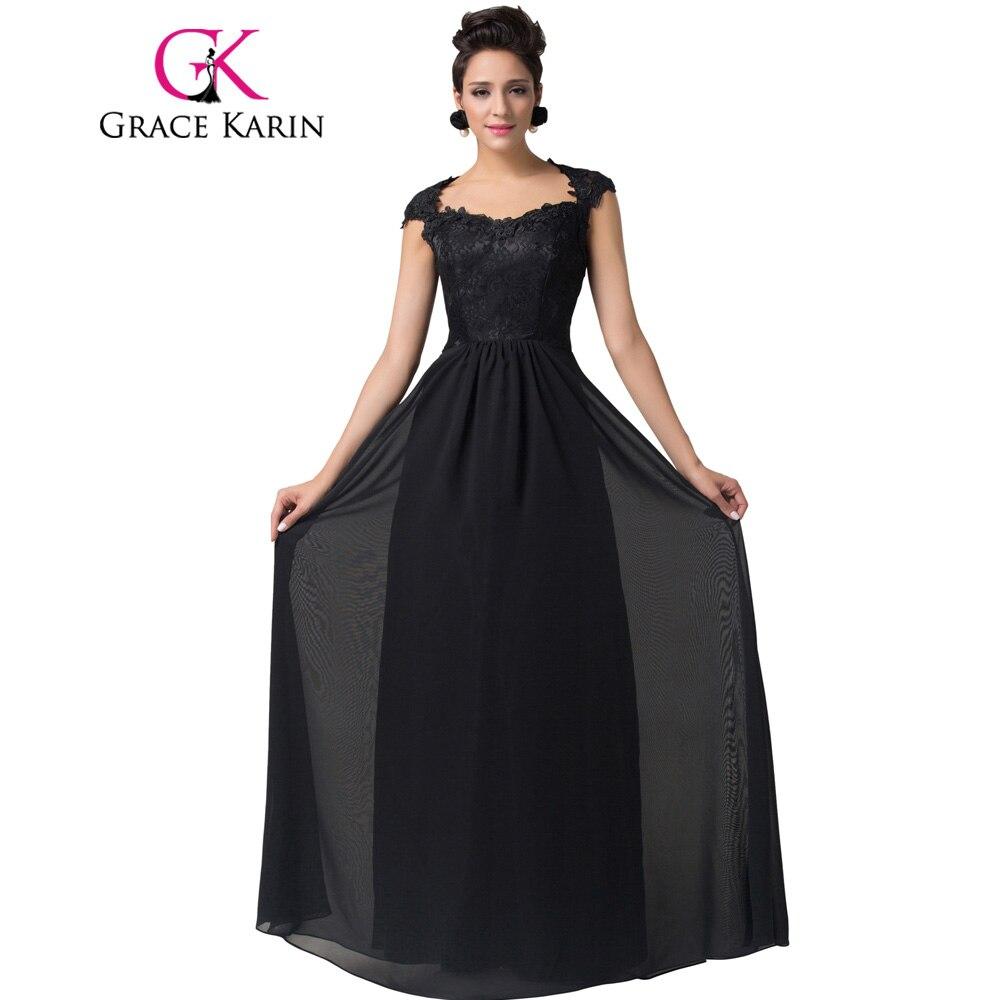 Vestido formal largo negro