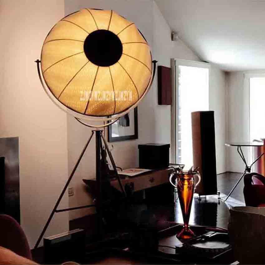 YKX109 Vintage Industrial Style Nordic Art Floor Lamp Living Room Bedroom Minimalist Creative Tripod Floor Lamp 110-220V 65CM