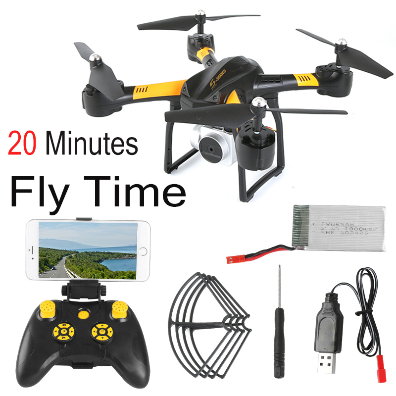 S10 S11T RC Helicopter Drone with Camera HD WIFI FPV Selfie Drone Professional Remote Control Quadcopter Dron 20min Battery Life цена