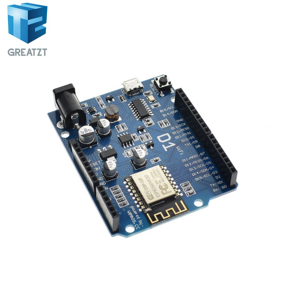 GREATZT Free shipping Smart Electronics ESP-12F WeMos D1 WiFi uno based ESP8266