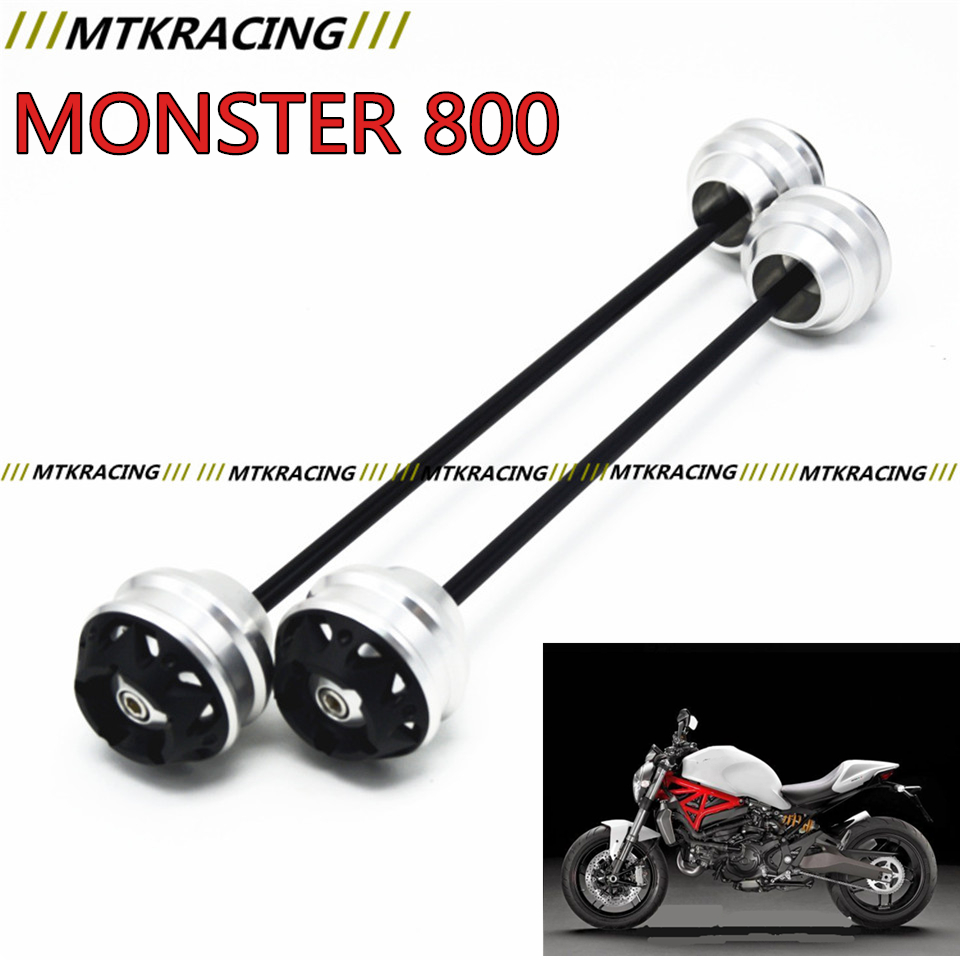 MTKRACING For Ducati MONSTER 800 2003-2005 CNC Modified Motorcycle Front and rear wheels drop ball / shock absorber rear brake disc rotor for ducati 800 monster i e 800 monster s i e 800 sport 800 ss supersport 2003 2004 2005 2006 03 04 05 06