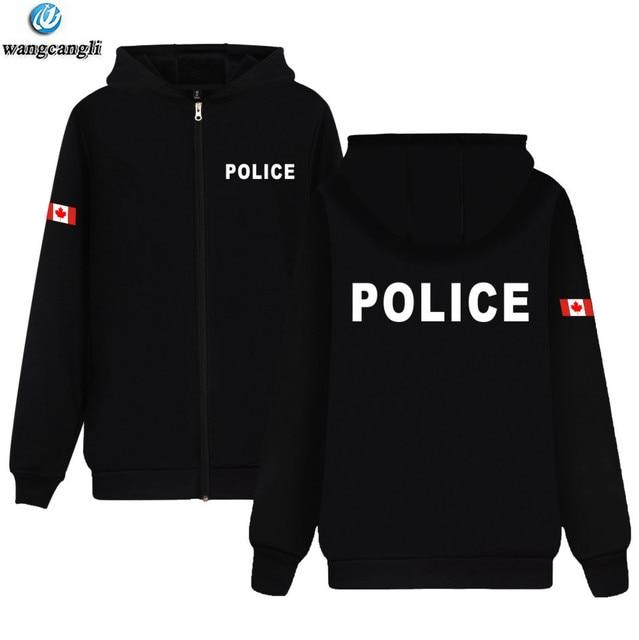 1dae2aea5a8 US $13.87 27% OFF Police Clothing Mens Fashion Jacket Coat Print Police  Hoodies With Zipper Top Brand Casual Hoodie Sweatshirt-in Hoodies & ...