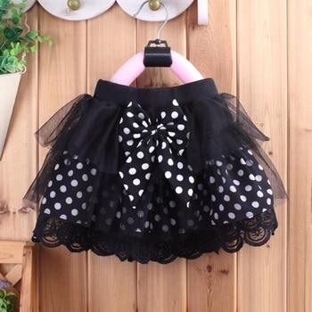 2018 Summer Fall Spring Baby Toddler Tutus Girls Princess Dot Bow Lace Skirts Kids Party Birthday Dance Tutu Skirt Girl JW2996A