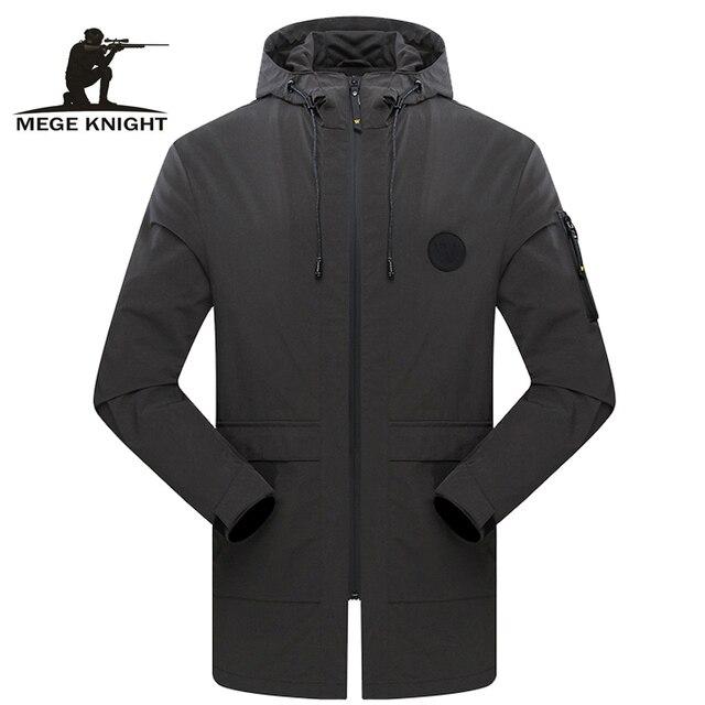 Mege Marca Roupa Nova Primavera dos homens Jaqueta Casaco de Design de Moda Casual Trench Coat Com Capuz Casacos dos homens Mais tamanho