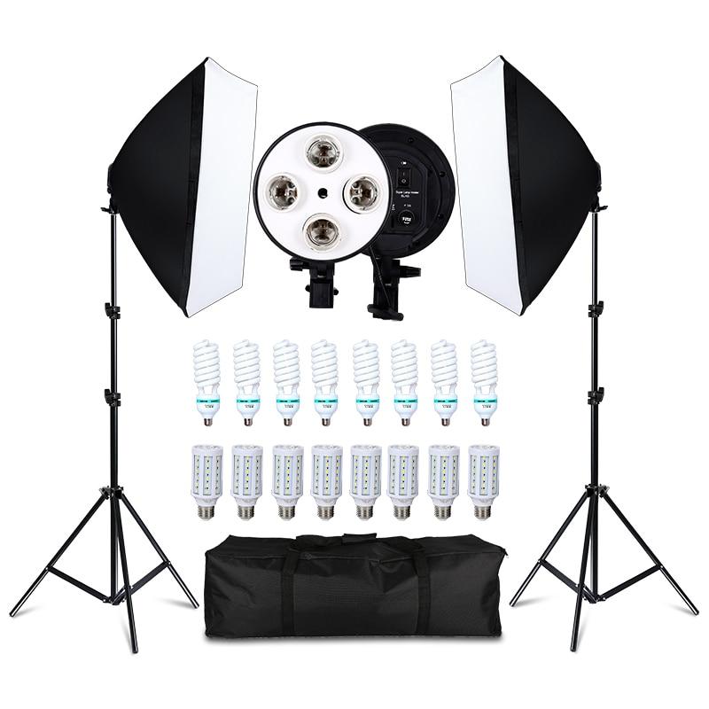 Foto Studio 8 LED 20 W Softbox Kit Fotografische Beleuchtung Kit Kamera & Foto Zubehör 2 Licht Stehen 2 Softbox für Kamera Foto