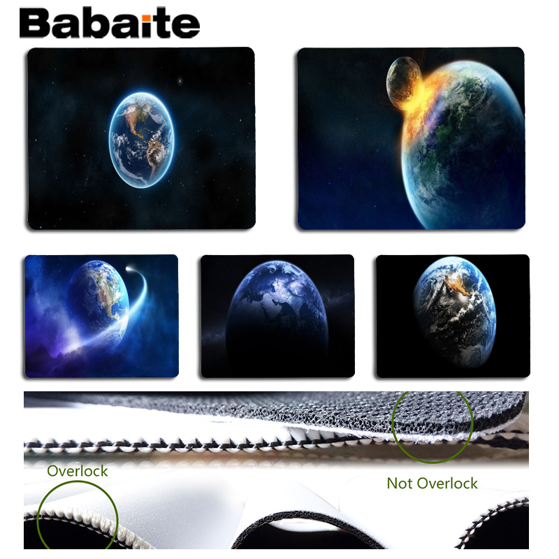 Babaite Simple Design Earth Laptop Gaming Mice Mousepad Size for 180x220x2mm and 250x290x2mm Small Mousepad