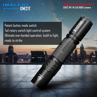 2016 IMALENT DM21T CREE XPL HI LED 1000 Lumens USB Rechargeable Multi functional Tactical Flashlight with 18650 Li ion Battery