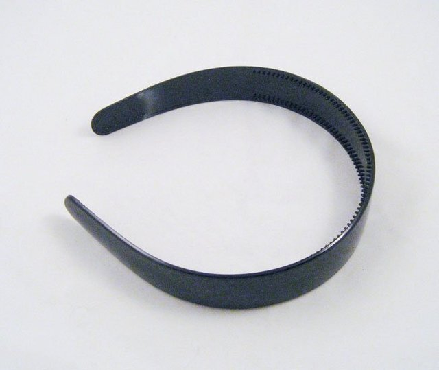 "20X  White & Black Headbands Blank Plain Plastic hairbands ,headwear 1"" with Teeth Drop shipping"