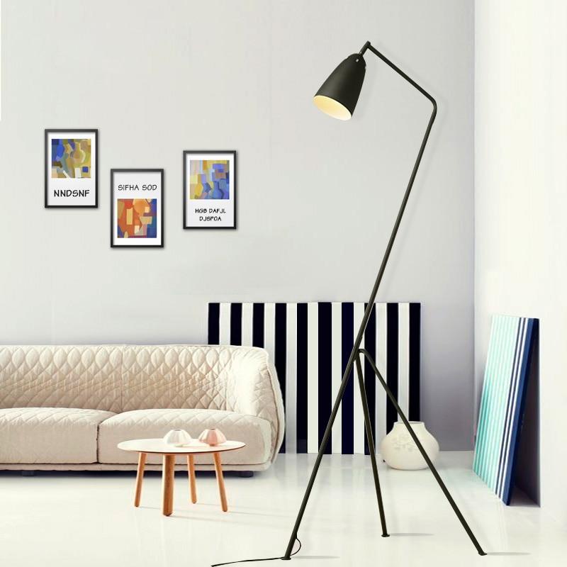Moderne vloerlamp zwart metalen lamp shades aangepast hoek AC 110 ...