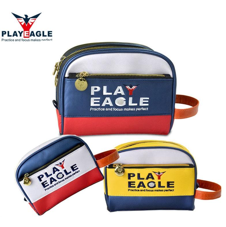 PLAYEAGLE 1 pcs Multifunction Men/Women PU Leather Golf Pouch Mini Golf Handbag Standard Size Golf Bag for Golf Ball/Tee
