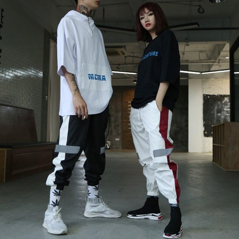 Reflective Pants Men Hip Hop Couple Style Dance Trousers ...
