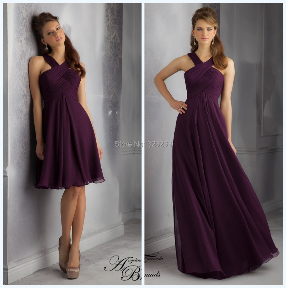 Elegant design floor length empire chiffon bridesmaid dresses elegant design floor length empire chiffon bridesmaid dresses gowns long dark purple lk083 in bridesmaid dresses from weddings events on aliexpress ombrellifo Images
