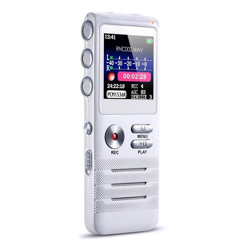Tragbares Audio & Video FleißIg 8 Gb Voice Aktiviert Vorträge Audio Diktiergerät Mini Noise Reduktion Langlebige Dual Mikrofone Digital Recorder Tagungen