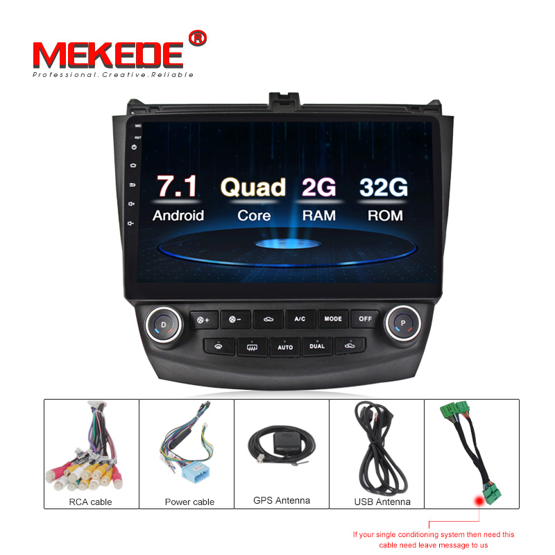 2G+32G android 7.1 car dvd player For <font><b>Honda</b></font> <font><b>Accord</b></font> 7 <font><b>2003</b></font> 2004 2005 2006 with GPS car radio <font><b>stereo</b></font> USB BT support steer wheel image