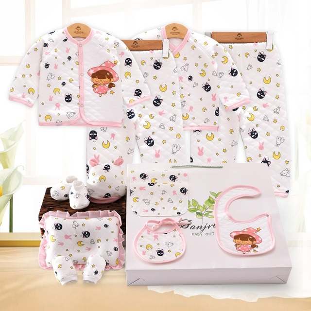 2018 Newborn Baby Boy Girl Clothes Autumn Luna Cat Gift Box Set