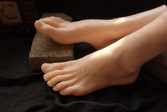 Free Shipping High Quality Male Silicone Foot Mannequin -3751