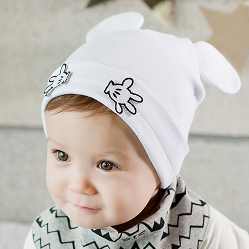 49bf3fde8b0 2016 Kids Beanies Baby Caps For Boys Bonnets Cap With Cat Ears Cute Newborn  Knitted Hats Cotton Newborn Photo Props Crochet Hat-in Skullies   Beanies  from ...
