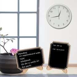 10 шт. деревянная маленькая дощечка доске Сообщение знак с веревка для подвешивания Свадебная вечеринка украшения Брак поставки 10*7,5 см