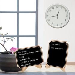 10pcs Mini Quadro de Madeira Blackboard Sinais Sinal de Mensagem Com Asa de Cordas da Festa de Casamento Decoração de Casamento Suprimentos 10*7.5cm