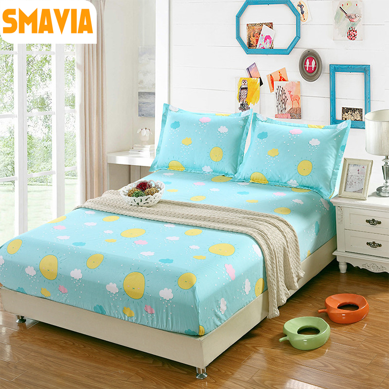 Hot Sale Bed Sheet Fitted bed Cover with 2 pillowcase 120*200cm/150*200cm/180*200cm bed protection pad Mattress Protector sheet