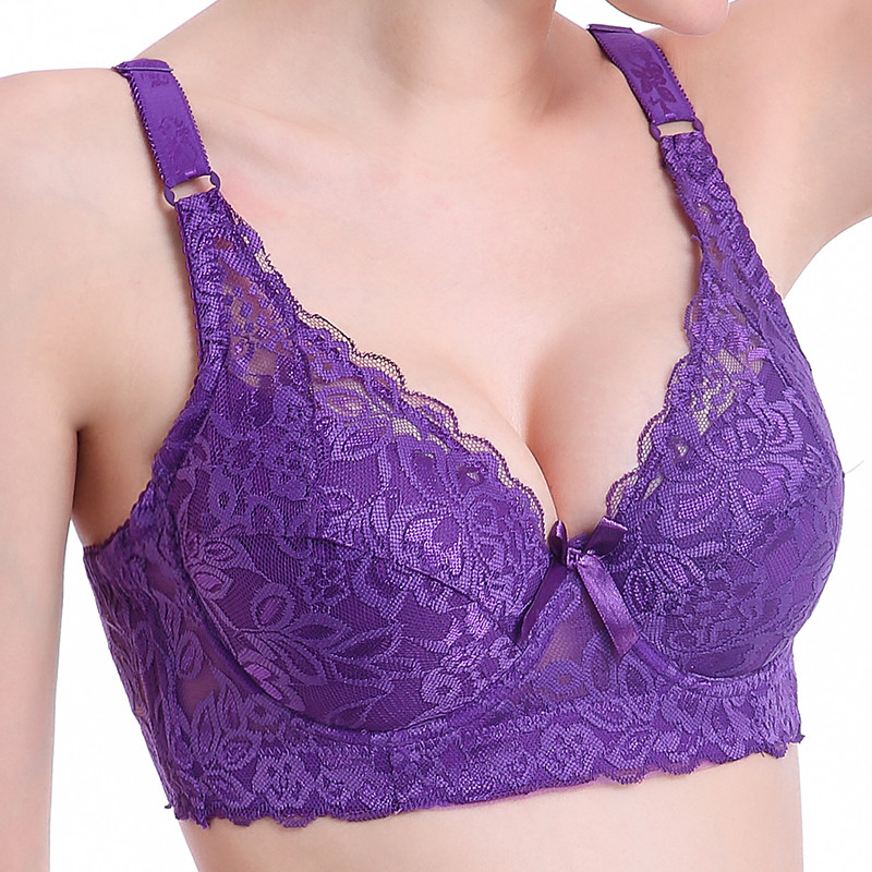 2020 Plus Size 40 90 44 Push Up Lace Bras For Women's Bralette Crop Top Bh BCD Underwear Sexy Lingerie Push Up Bra Young Girls
