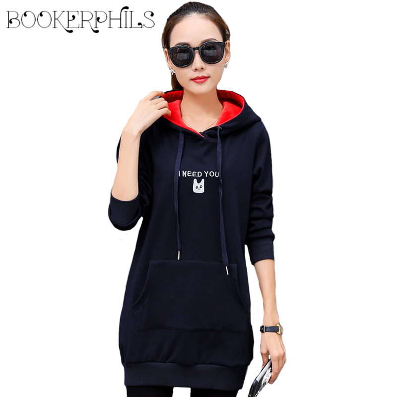 2018 Autumn Winter Women Hooded Pullovers Plus Size Thick Warm Long Sleeve Oversize Hoodies Sweatshirts Female Hoodies S 4XL