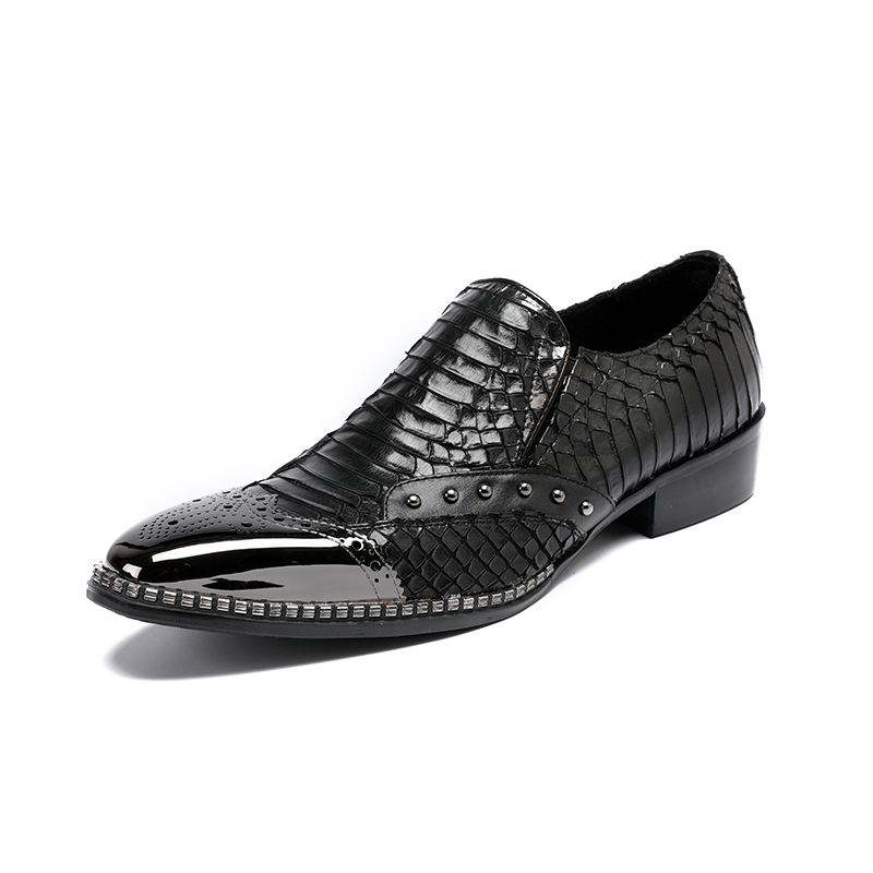 Top Quality Genuine Leather Men Shoes Black Pointed Toe Moccasins Slip-on Handsome Flats Creepers Brand Design Wedding Shoes MenTop Quality Genuine Leather Men Shoes Black Pointed Toe Moccasins Slip-on Handsome Flats Creepers Brand Design Wedding Shoes Men