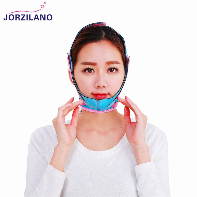 JORZILANO Facial Slimming Bandage Skin Care Belts Shape And Lift Reduce Big Frontal Messeter Face Mask Face Thining Band Strap 7pcs face mask 2n the skin tight skin face care thin face bandage powerful v line slimming product lifting beauty skin care