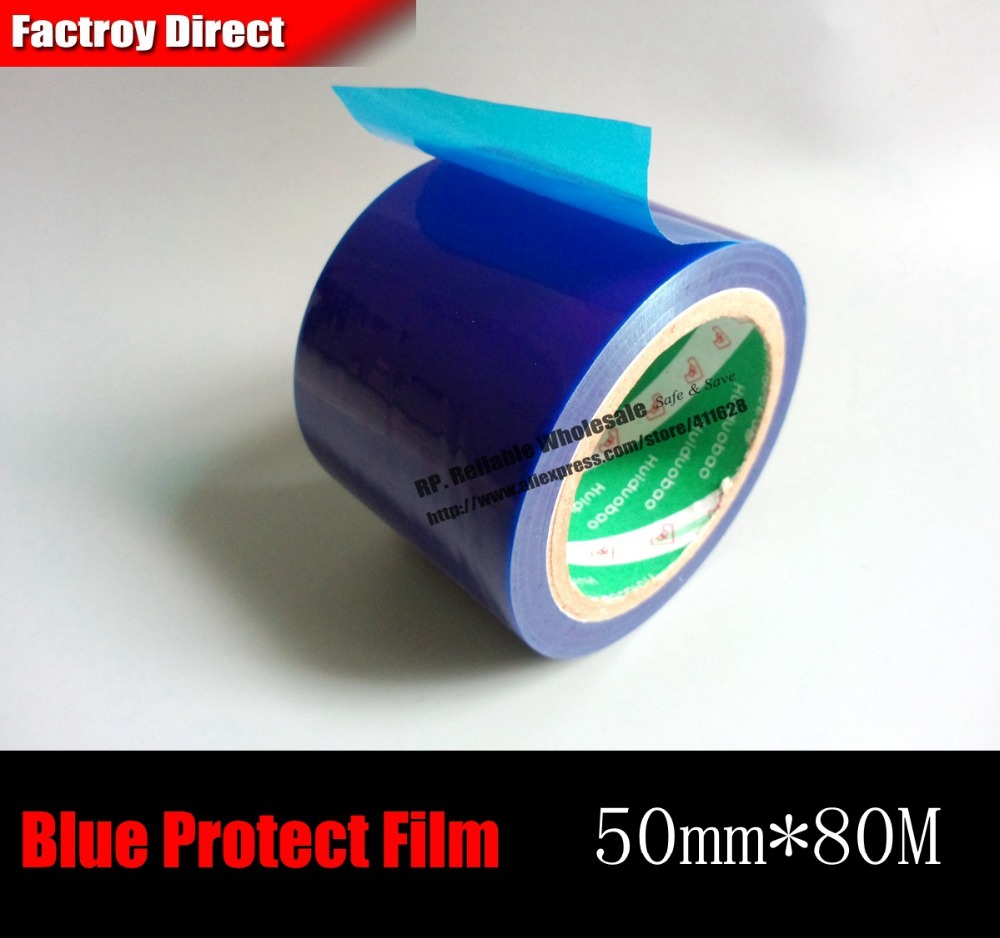 50mm* 80M*0.04mm Protect Film Tape For Aluminum Alloy, Stainless Metal Glass Surface, Bicycle Parts Protect