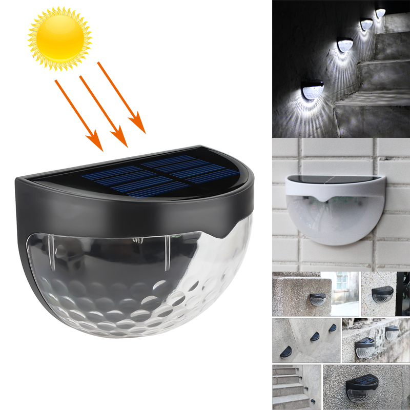 LED Solar Light Waterproof Solar Power Light Sensor Wall Light 6 LEDs Auto ON/OFF Outdoor Garden Patio Fence Lamp